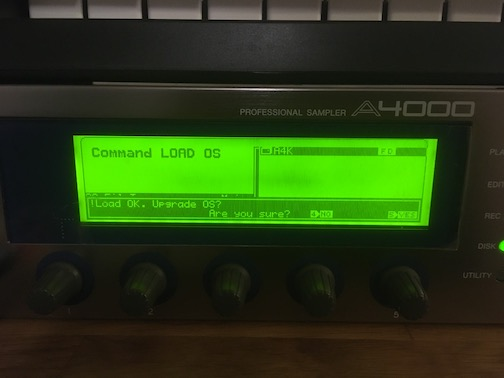 Yamaha A4000 operating system loaded